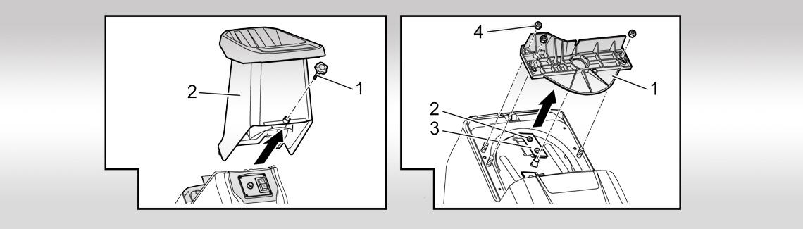 AL-KO tilbehør til pleie av trær og hekker| bytting av knivblader for kompostkverner