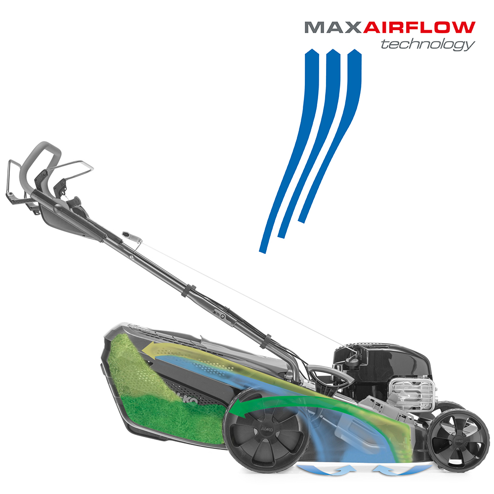 Rasenmäher | AL-KO MaxAirflow Technology Strömungsverhalten