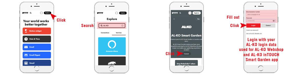 AL-KO Smart Gardening with IFTTT   connect your AL-KO user account